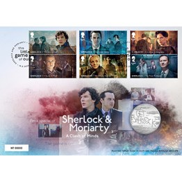Sherlock & Moriarty Limited Edition Medal Cover