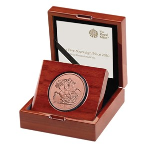 The Five-Sovereign Piece 2020 Gold Brilliant Uncirculated Coin