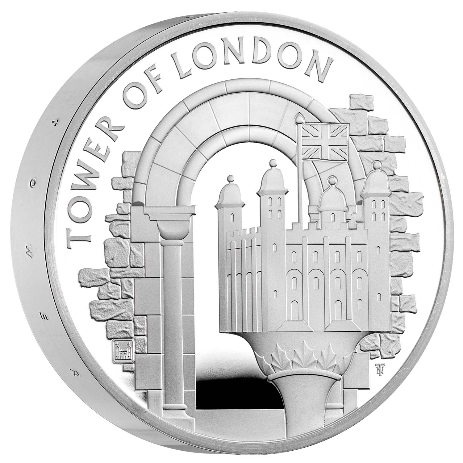The White Tower 2020 UK £5 Silver Proof Piedfort Coin