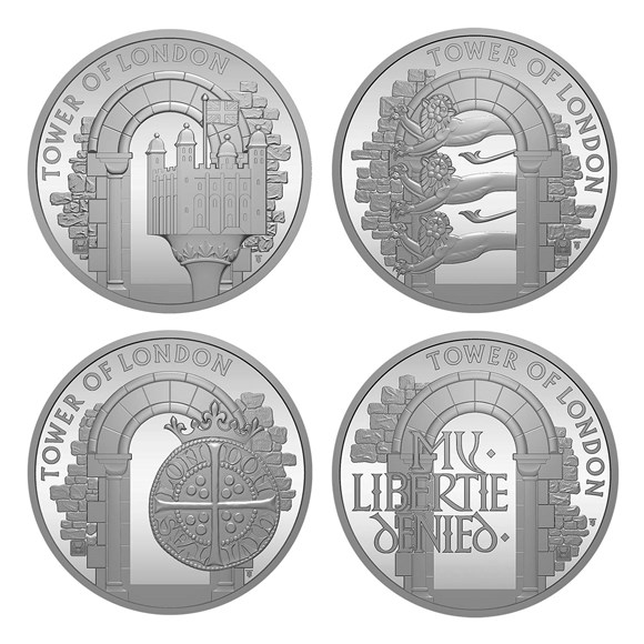 The 2020 Tower of London Brilliant Uncirculated Four-Coin Series