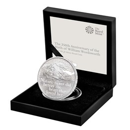The 250th Anniversary of the Birth of William Wordsworth 2020 UK £5 Silver Proof Coin