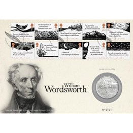 William Wordsworth £5 Silver Proof Coin Cover