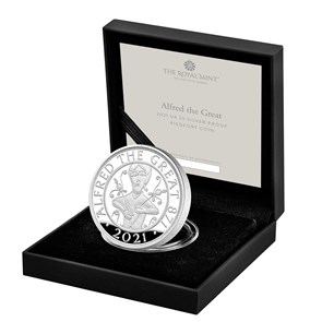 Alfred the Great 2021 UK £5 Silver Proof Piedfort Coin