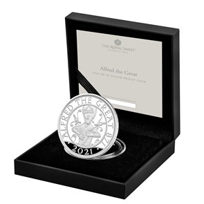 Alfred the Great 2021 UK £5 Silver Proof Coin