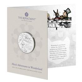 Alice's Adventures in Wonderland 2021 UK £5 Brilliant Uncirculated Coin