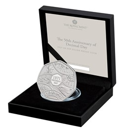 The 50th Anniversary of Decimal Day 2021 UK 50p Silver Proof Coin
