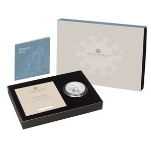 The Britannia 2021 UK Premium Exclusive  One-Ounce Brilliant Uncirculated Coin