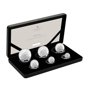 The Britannia 2021 UK Six-Coin Silver Proof Set