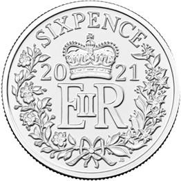 2021 Wedding Silver Sixpence
