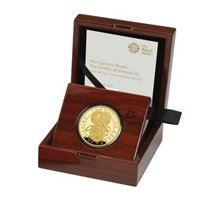 The Griffin of Edward III 2021 UK One Ounce Gold Proof Coin