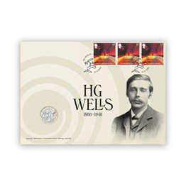 H.G. Wells Brilliant Uncirculated Coin Cover