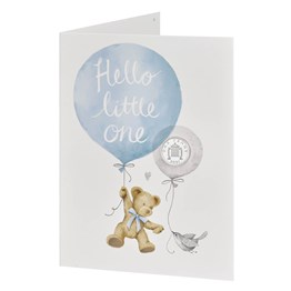 Hello Little One 2021 Silver Penny Baby Card in Blue