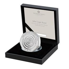 John Logie Baird 2021 UK 50p Silver Proof Piedfort Coin
