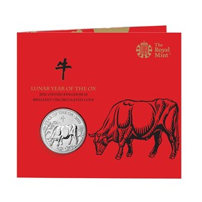 Lunar Year of the Ox 2021 United Kingdom £5 Brilliant Uncirculated Coin