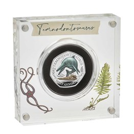 Temnodontosaurus 2021 UK Silver Proof Colour 50p Coin