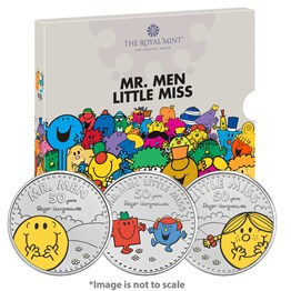 The Mr. Men Little Miss 2021 UK Brilliant Uncirculated Coloured Three-Coin Series