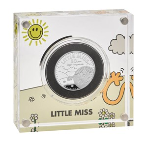 Little Miss Sunshine – The 50th Anniversary of Mr. Men Little Miss 2021 UK Half-Ounce Silver Proof Coin