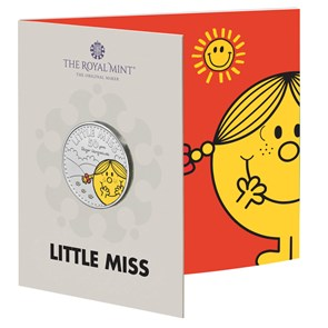 Little Miss Sunshine – The 50th Anniversary of Mr. Men Little Miss 2021 UK £5 Brilliant Uncirculated Coloured Coin