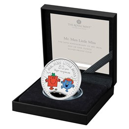 Mr. Strong and Little Miss Giggles – The 50th Anniversary of Mr. Men Little Miss 2021 UK One Ounce Silver Proof Coin