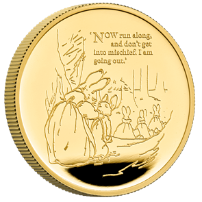 Peter Rabbit™ 2021 UK One Ounce Gold Proof Coin