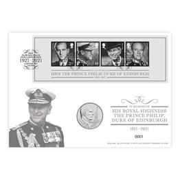 In Memoriam HRH, The Duke of Edinburgh £5 Brilliant Uncirculated Coin Cover