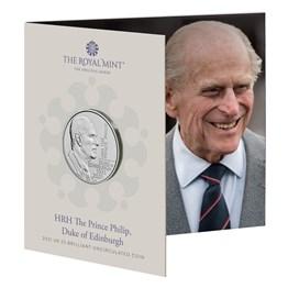 HRH The Prince Philip, Duke of Edinburgh 2021 UK £5 Brilliant Uncirculated Coin