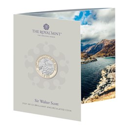 The 250th Anniversary of the Birth of Sir Walter Scott 2021 UK £2 Brilliant Uncirculated Coin