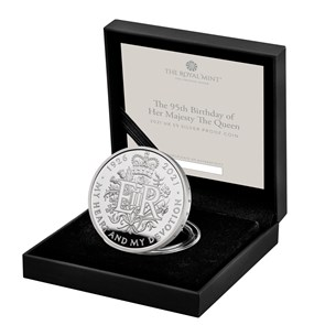 The 95th Birthday of Her Majesty the Queen 2021 £5 Silver Proof Coin