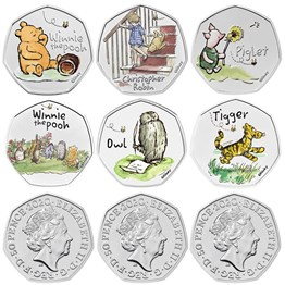 The Winnie the Pooh and Friends 2020-2022 UK Brilliant Uncirculated Colour Nine-Coin Series