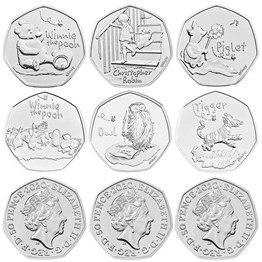 The Winnie the Pooh and Friends 2020-2022 UK Brilliant Uncirculated Nine-Coin Series