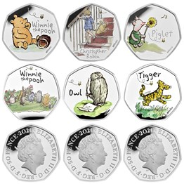 The Winnie the Pooh and Friends 2020-2022 UK Silver Proof Nine-Coin Series