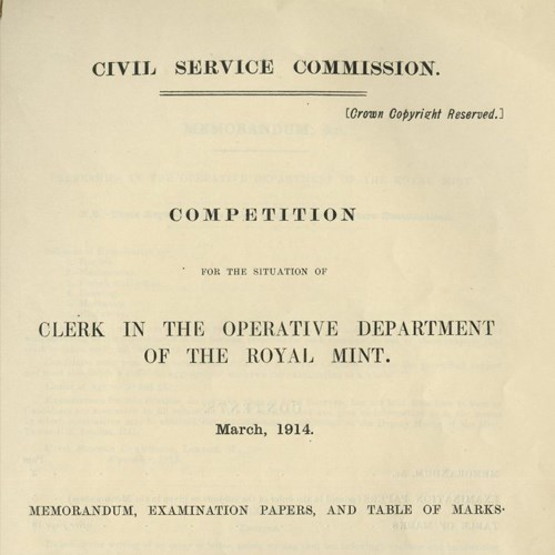 Do You Think You Could Pass The Royal Mint's 1914 Entry Exam?