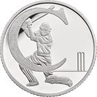 C - Cricket Silver 10 pence