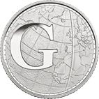 G - Greenwich Mean Time Silver 10 pence