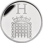 H - Houses of Parliment Silver 10 pence