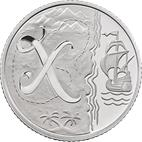 X - X Marks the Spot Silver 10 pence