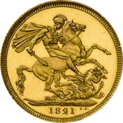 1821 sovereign reverse design