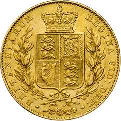 1838 sovereign reverse design