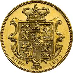1830 sovereign reverse design