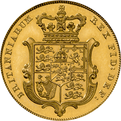 1825 sovereign reverse design