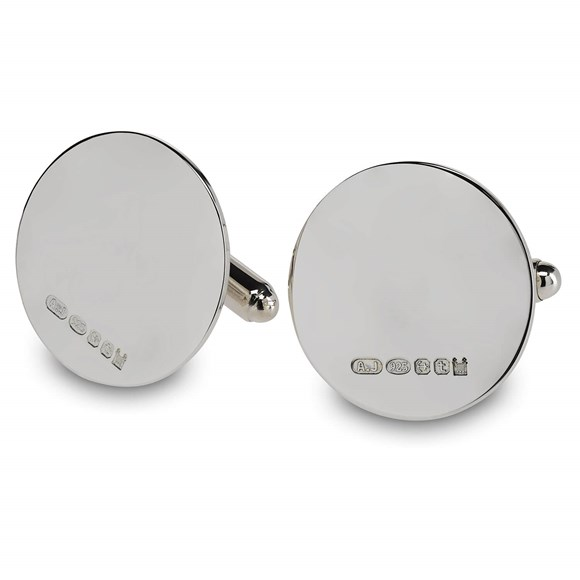 Sterling Silver Round Cufflinks | Royal Mint