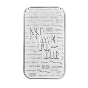 James Bond 1oz Silver Bar Minted