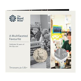 Celebrate 50 Years of the 50p coin: 2-Coin Historic Set