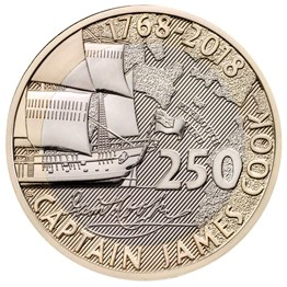 Captain Cook 2018 £2 Brilliant Uncirculated Coin