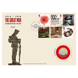 The Great War 1918 Silver Proof Coin Cover
