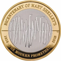 Frankenstein 2018 UK £2 Silver Proof Coin