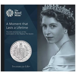 Sapphire Coronation 2018 UK £5 Brilliant Uncirculated Coin