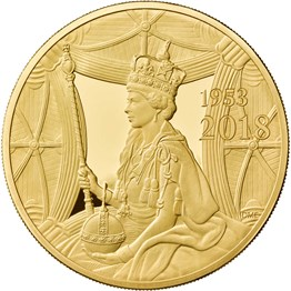 Sapphire Coronation 2018 UK Five-Ounce Gold Proof Coin