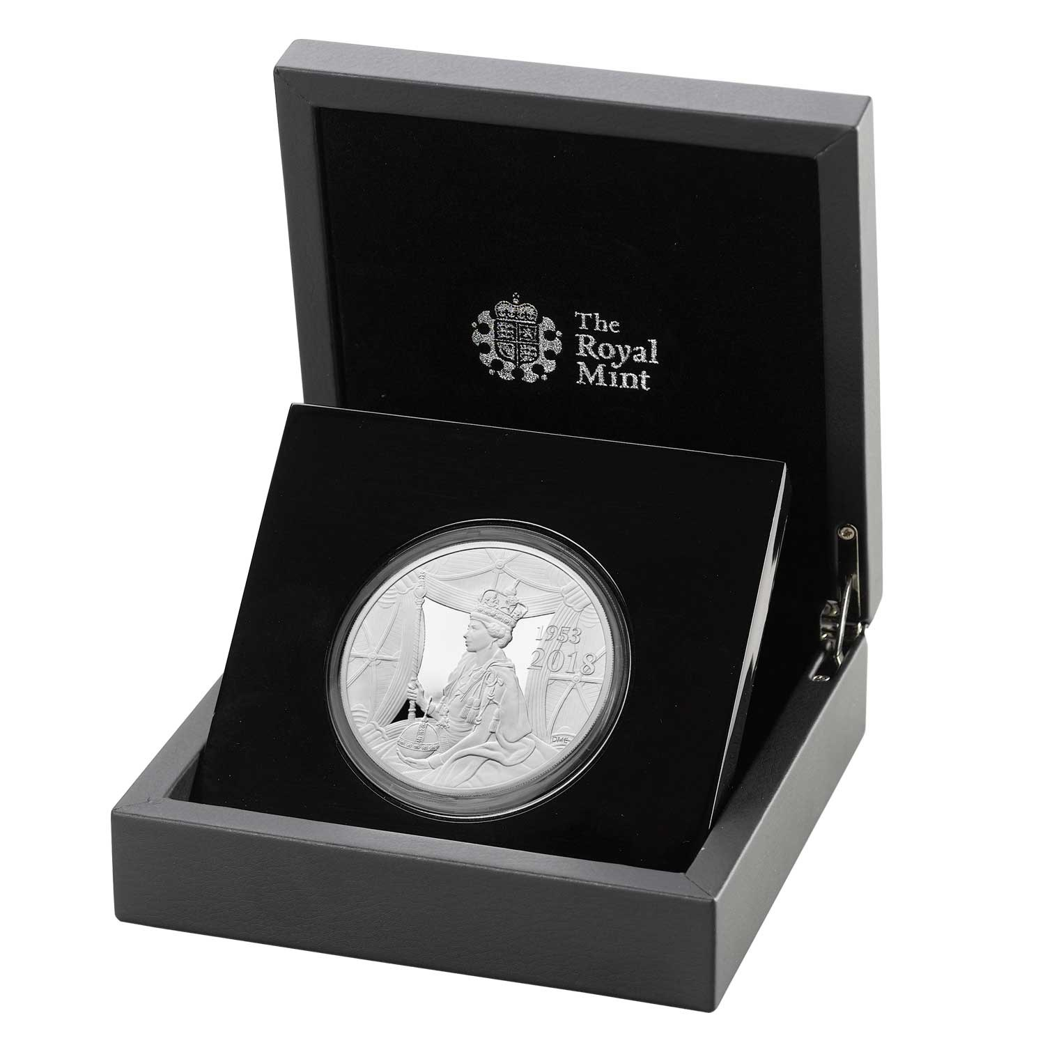 Sapphire Coronation 2018 UK £10 Five-Ounce Silver Proof Coin