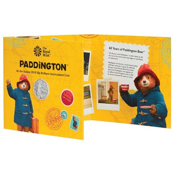 4159bc7e39 ... Paddington™ at the Station 2018 UK 50p Brilliant Uncirculated Coin